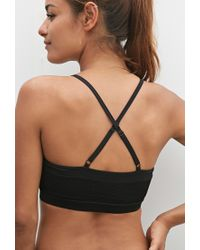 Forever 21 | Black Low Impact - Mesh Sports Bra | Lyst