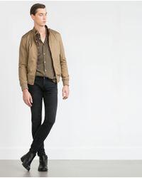 Zara | Brown Cotton Jacket for Men | Lyst