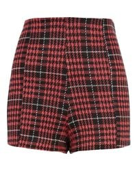 River Island Black Red Dogtooth Check High Waisted Shorts