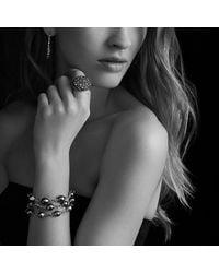 David Yurman - Midnight Mélange Large Hoop Earrings With Black Diamonds - Lyst