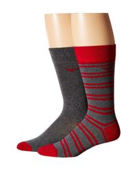 Emporio Armani | Red 3-pack Multi-pattern Cotton Socks for Men | Lyst