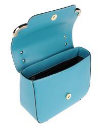 Ab Asia Bellucci Blue Medium Leather Bag