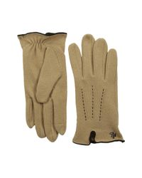 Lauren by Ralph Lauren | Natural Contrast Points Touch Glove | Lyst