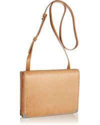 Alexander Wang Natural Prisma Double Envelope Leather Shoulder Bag