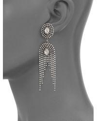 DANNIJO - Metallic Paltrow Crystal Fringe Earrings - Lyst