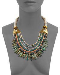 Lizzie Fortunato | Multicolor Tortola Semi-precious Multi-stone Beaded Long Bay Necklace | Lyst