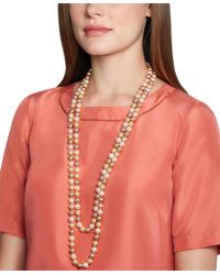 Brooks Brothers - Pink Tonal Pearl Necklace - Lyst