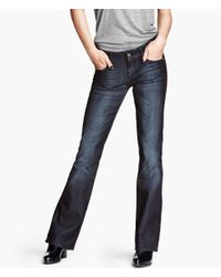 H&M - Blue Boot Cut Low Jeans - Lyst