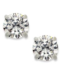 INC International Concepts | Metallic Silver-tone Round Cubic Zirconia Stud Earrings (4 Ct. T.w.) | Lyst