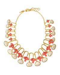 Lele Sadoughi - Pink Tropicana Havana Feathered Necklace - Lyst