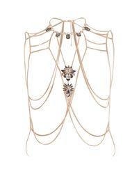 River Island | Metallic Gold Tone Chain Jewel Body Harness | Lyst