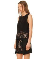 Tibi   Black Crochet Embroidered Top   Lyst