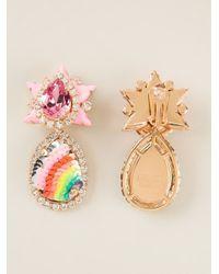 Shourouk   Pink 'galaxy' Clip-on Earrings   Lyst