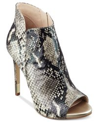 Guess Multicolor Adara Peep Toe Platform Shooties