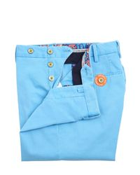 PT01 Blue 17cm Reef Faded Stretch Cotton Pants for men