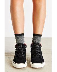 Vans Black Sk8-hi Woven Chevron Mte Sneaker