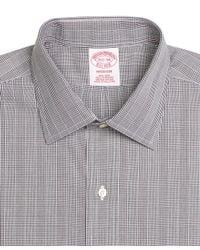 Brooks Brothers - Black Non-iron Madison Fit Glen Plaid Dress Shirt for Men - Lyst