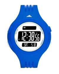Adidas - Blue 'questra Xl' Rubber Strap Watch for Men - Lyst
