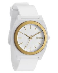 Nixon - Metallic 'the Anodaze Time Teller' Watch - Lyst