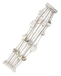 Kenneth Cole | Metallic Mixed Metal Multi Chain Bracelet | Lyst