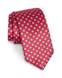 Robert Talbott Red Medallion Silk Tie for men