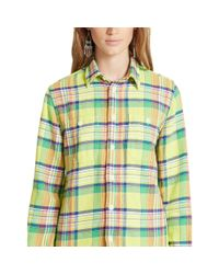 Polo Ralph Lauren - Blue Plaid Cotton Twill Workshirt - Lyst