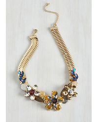 Lydell NYC - Metallic Garden Statement Necklace - Lyst