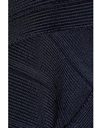 Hervé Léger - Blue Bandage Dress - Lyst