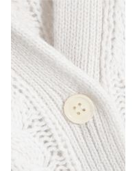 Equipment White Suzy Open-knit Cashmere, Alpaca And Wool-blend Cardigan