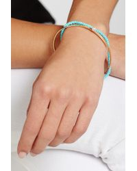 Inez & Vinoodh | Blue 18-Karat Gold, Turquoise And Pearl Interlinked Bracelets | Lyst
