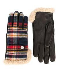 DSquared² - Black Checked Gloves for Men - Lyst