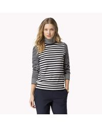 Tommy Hilfiger - Blue Wool Blend Polo Neck - Lyst
