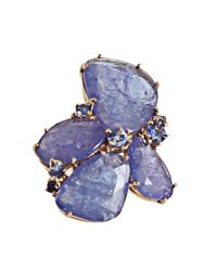 Federica Rettore | Blue Tanzanite Cluster Earrings | Lyst