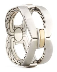 John Hardy - Metallic Classic Chain Gold Silver Link Band Ring for Men - Lyst