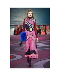 ROKSANDA Red Silk-blend Turtleneck Sweater