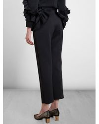 Simone Rocha Black Neoprene Ruffle Trousers