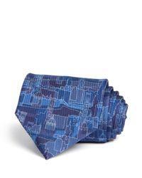 Ferragamo | Blue Florence Cityscape Classic Tie for Men | Lyst