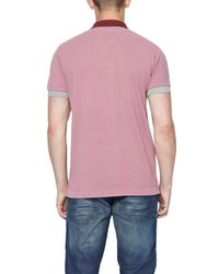French Connection Purple Photon Pique Polo Shirt for men