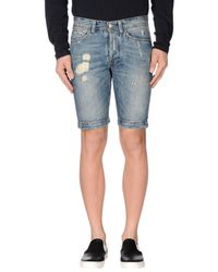 Jaggy | Blue Denim Bermudas for Men | Lyst
