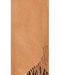 Glamorous | Natural Blanket Fringe Poncho - Camel | Lyst
