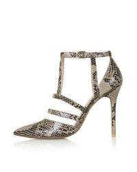 TOPSHOP - Brown Geneva Court Shoes - Lyst