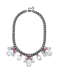 BaubleBar | Gray Electric Scarab Collar | Lyst