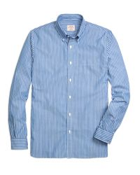 Brooks Brothers - Blue Stripe Sport Shirt for Men - Lyst