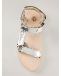 H by Hudson Metallic 'Calypso' Sandals