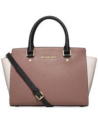 Michael Kors | Pink Michael Selma Medium Top Zip Satchel | Lyst
