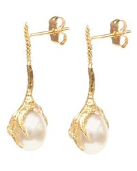 Wouters & Hendrix | Metallic 'crow's Claws' Pearl Earrings | Lyst