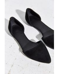 Urban Outfitters - Black Suede D'orsay Flat - Lyst