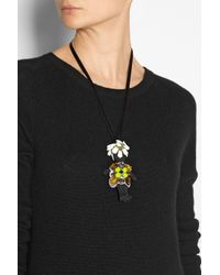Marni - Black Embellished Twill Doll Necklace - Lyst