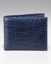 Santiago Gonzalez | Blue Crocodile Wallet, Navy for Men | Lyst