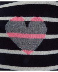Chinti & Parker Blue Stripe Heart Sweater
